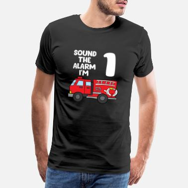 Dabbing Sound Alarm I'm 1 Children 1. Birthday Fire Truck - Men's Premium T-Shirt