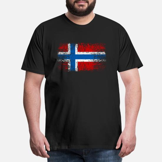 Norge 002 runde design Premium T skjorte for menn | Spreadshirt