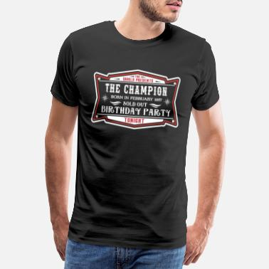 Born In 1957 The Champion born in February 1957 - Männer Premium T-Shirt
