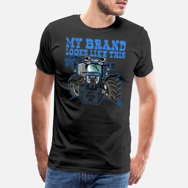 Brand my brand looks like this, NewHolland T7.170 - Mannen premium T-shirt