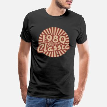 Young 1980 birthday gift born year vintage 40th - Men's Premium T-Shirt