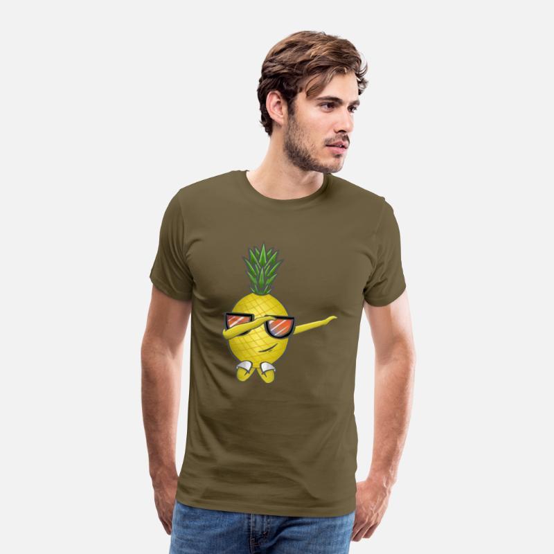 854e28afccba Sommer Ananas Dabbing Dab Ananas Solbriller Premium T-shirt mænd ...