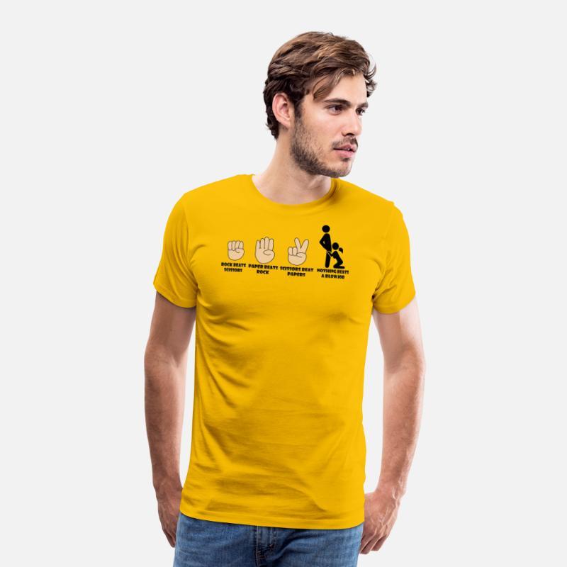 b41c98a1 Adult Humor Novelty Graphic Sarcasm Funny T Shirt Nothing beats a blowjob  Men's Premium T-Shirt | Spreadshirt