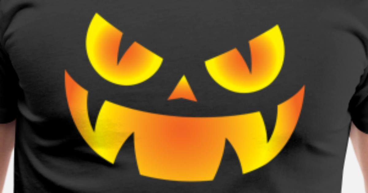 Gold Halloween Trick or Treat Spooky Women/'s T-Shirt Pumpkin Face