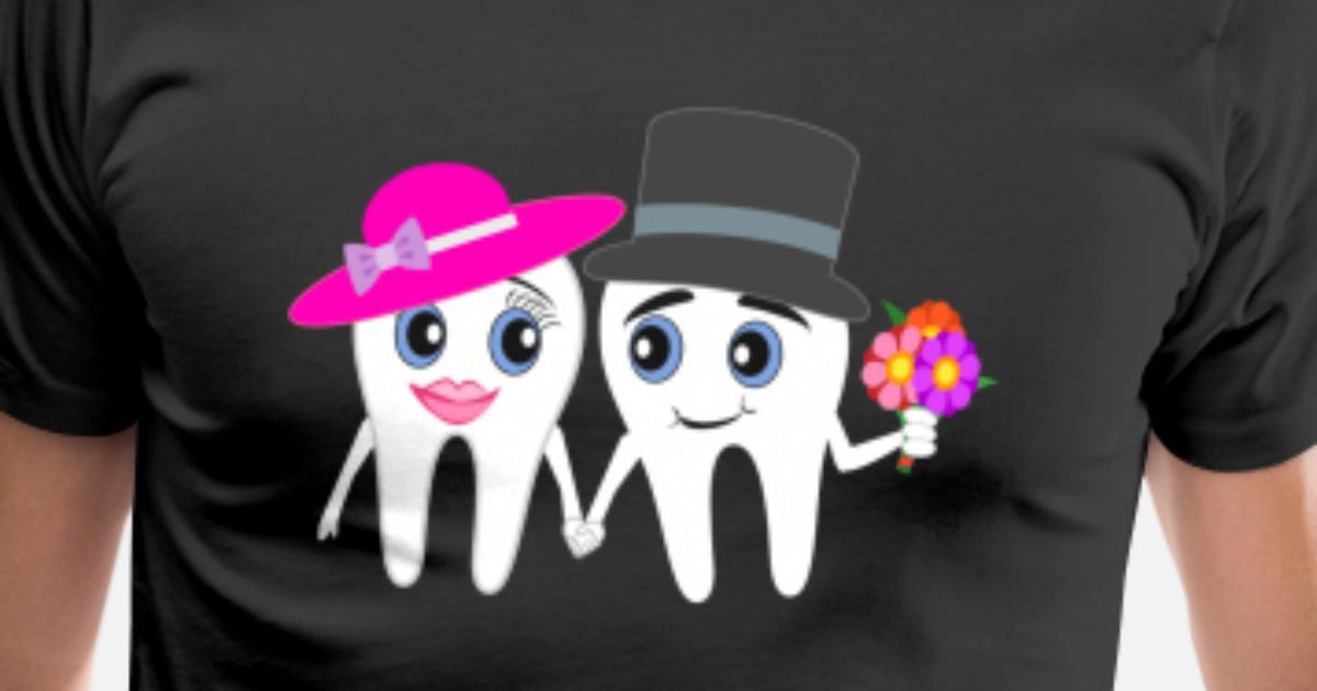 2ef514ba346e Rolig tandläkare bröllopsdesign gåva Premium T-shirt herr | Spreadshirt