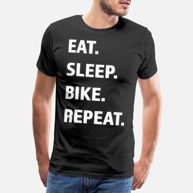 Mountains Cycling with Renner Mtb gift idea for bike tour - Men's Premium T-Shirt