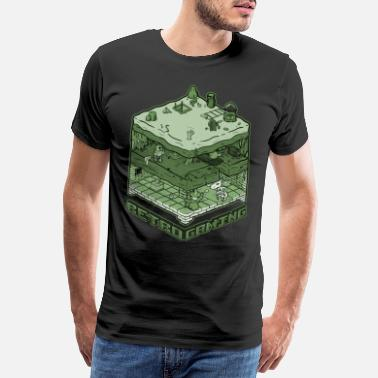 Retro Gaming - Premium T-skjorte for menn