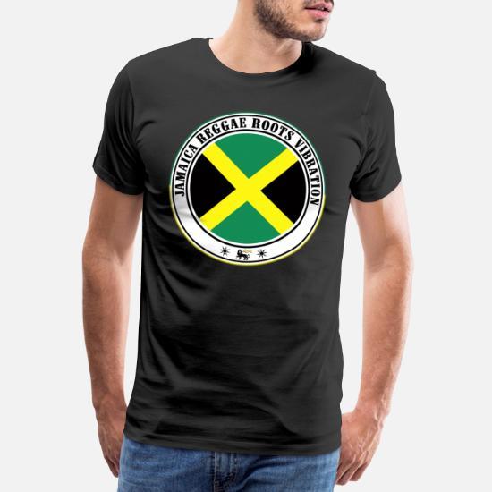 jamaica reggae roots vibration T shirt Premium Homme noir