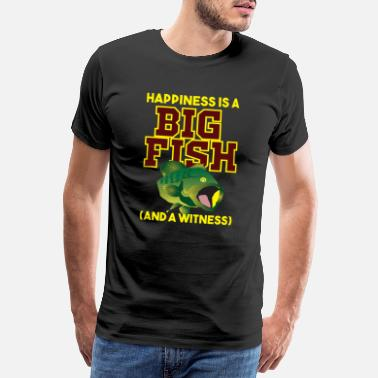Maniac Funny Fishing Happiness is a Big Fish Carp Hook - Men's Premium T-Shirt