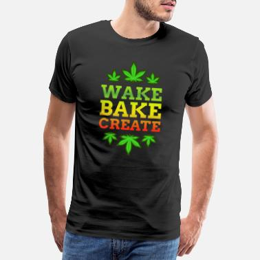 Drugs Smoke Weed Cannabis Marijuana Ganja Blunt Joint - Men's Premium T-Shirt