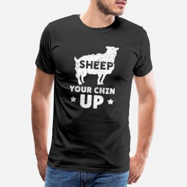 Uskyld Funny Sheep Animal Lamb Farm Lamb Farmers Farming - Premium T-skjorte for menn
