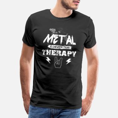 Metal Sign Rocker Metal Guitarist Guitar Music Headbang Gift - T-shirt Premium Homme