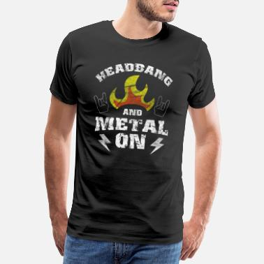 Anticristo Headbanger Rocker Death Metal Loud Music Gift - Camiseta premium hombre