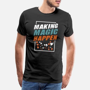 Man Magicians Magic Magician Wizard Sorcery Trick Gift - Men's Premium T-Shirt