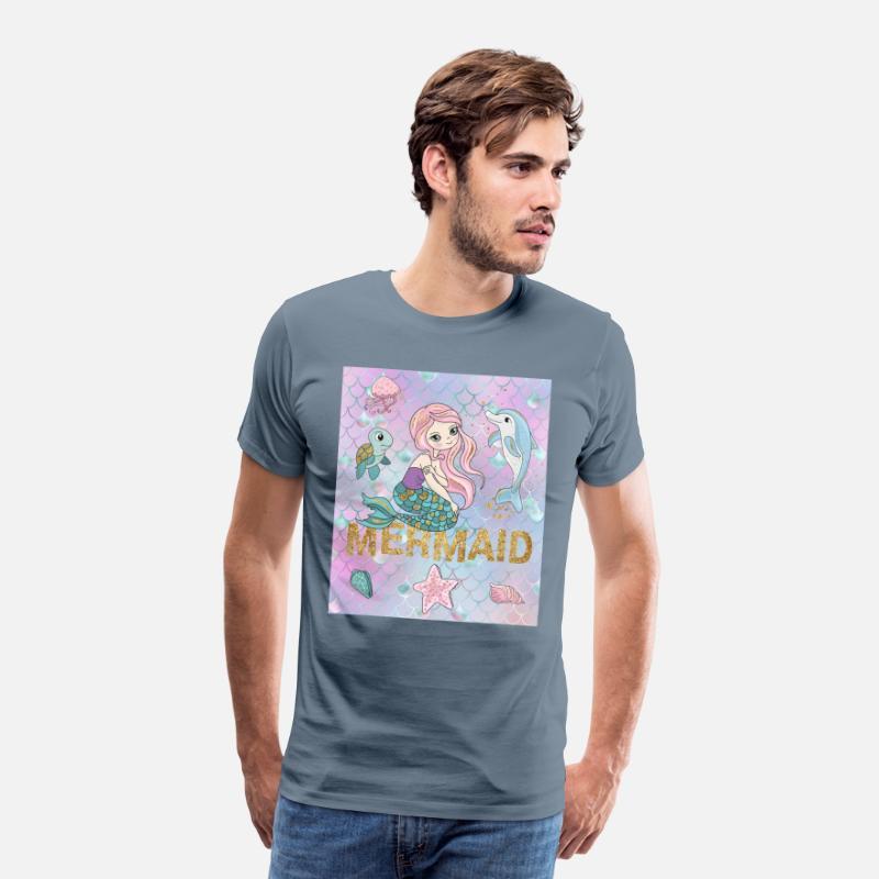 Lille havfrue T skjorte for menn   Spreadshirt