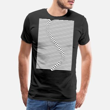 Abstract lines art surfing in the water - Men's Premium T-Shirt