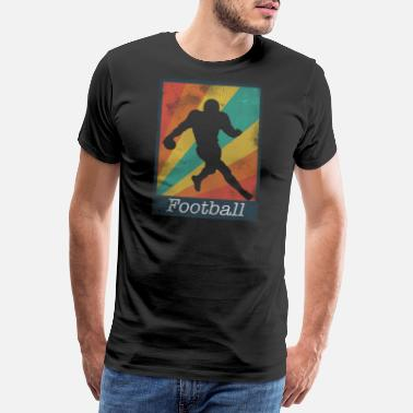 Rugby Ball Runningback Football Polaroid - Men's Premium T-Shirt