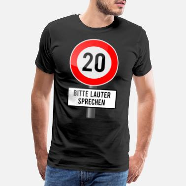 Louder 20 years shield louder - Men's Premium T-Shirt