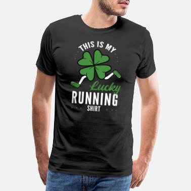 Duizelig Dit is mijn Lucky Running-shirt - Mannen premium T-shirt