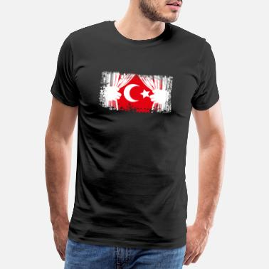 Ankara Turkey flag Türkiye bayrak gift - Men's Premium T-Shirt