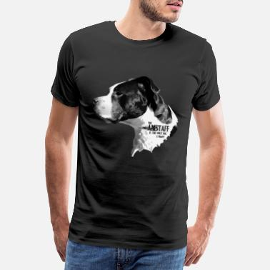 American The only Dog 3 - Männer Premium T-Shirt