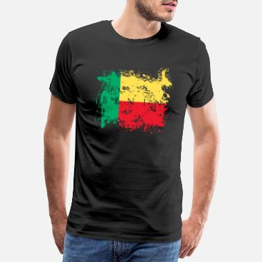 Benin Benin Africa travel flag flag flag home people - Men's Premium T-Shirt