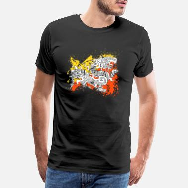 Bhutan Bhutan Thimphu Asia Dragon Travel Flag Flag - Men's Premium T-Shirt