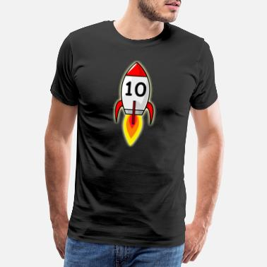 Space Funny 10th birthday boy rocket 10 girl gift - Men's Premium T-Shirt