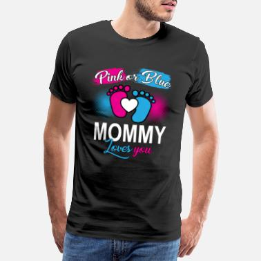 Ark Mommy Loves You, pink or blue baby t-shirt - Men's Premium T-Shirt