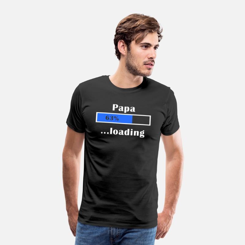Papá Camisetas - Seré papá - Camiseta premium hombre negro 4ba7b37b599b7