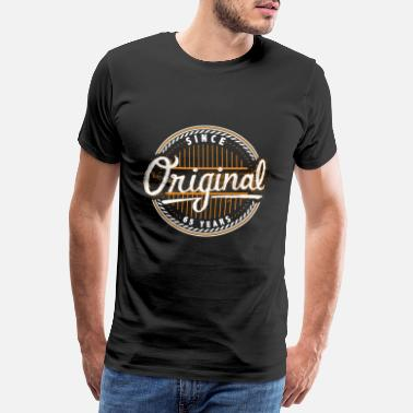 Zahl 65 Original since 65 years - Birthday Shirt - Männer Premium T-Shirt