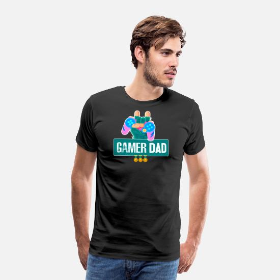 Spil T-shirts - Funny Gamer Dad grafisk til Video Gamer Geeks by - Premium T-shirt mænd sort