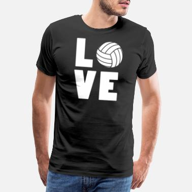 Serve Funny volleyball product - Love Volleyball - - Men's Premium T-Shirt