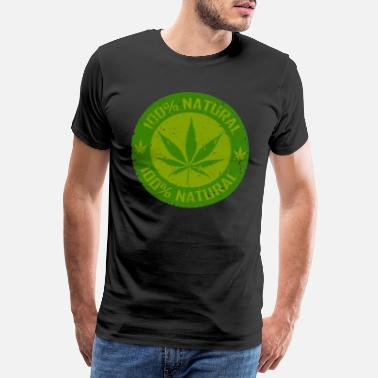 Cannabisblad Weed 100% Natural - Premium-T-shirt herr