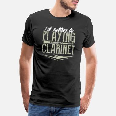 Trombone Jazz Clarinet player wind instrument flute gift - Men's Premium T-Shirt