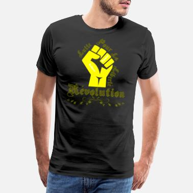 Against Politics Yellow West Revolution - fight for freedom - Men's Premium T-Shirt