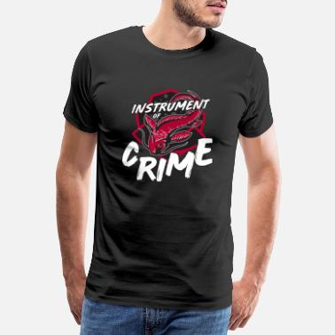 Crime Jokes Catfish Intrument of Crime Ice Hockey Player Fan - Men's Premium T-Shirt