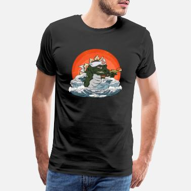 Lake Godzilla Lake Monster Anime Japón regalo divertido - Camiseta premium hombre