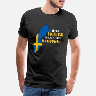 Patriot Sverige Patriot Gift Flag Scandinavia - Premium T-shirt herr