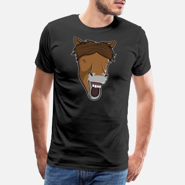 Laughing Of Loud Laughing Horse - Mannen premium T-shirt