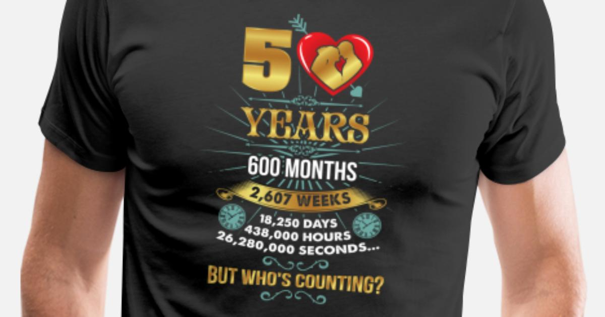 50 Jahre Verheiratet Goldene Hochzeit Jubilaum Manner Premium T