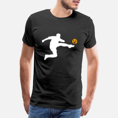 Outfielder Halloween footballer volley - Men's Premium T-Shirt