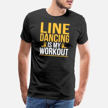 Great Dane Line Dance Dancing Dancing Dance Country Gift - Mannen Premium T-shirt