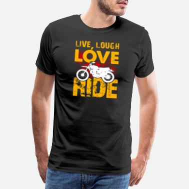 Speedway Motorbike Live Laugh Love Biker Sports Gift Idea - Men's Premium T-Shirt