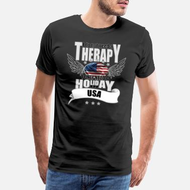 Denver no therapy USA - Men's Premium T-Shirt