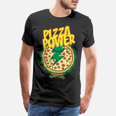 TMNT Turtles Pizza Power Shield - Men's Premium T-Shirt