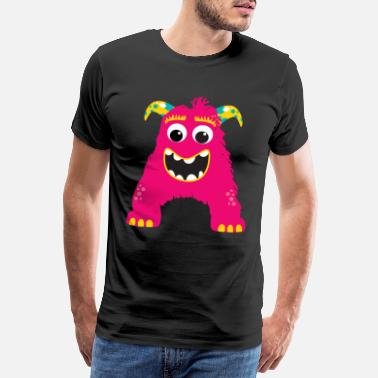 Alphabet Monster ABC A - Männer Premium T-Shirt