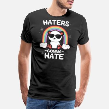 Pandas Kawaii Camiseta Hates Gonna Hate para niños niños Kawaii - Camiseta premium hombre