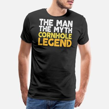 Bean The Man The Myth The Cornhole Legend TShirt Bean - Men's Premium T-Shirt