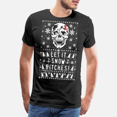 Let It Snow 81 Skull Skull Let it Snow Chiennes à l'ancre - T-shirt Premium Homme